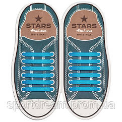 Силиконовые антишнурки AntiLaces Stars 12 шт голубой SLBL565