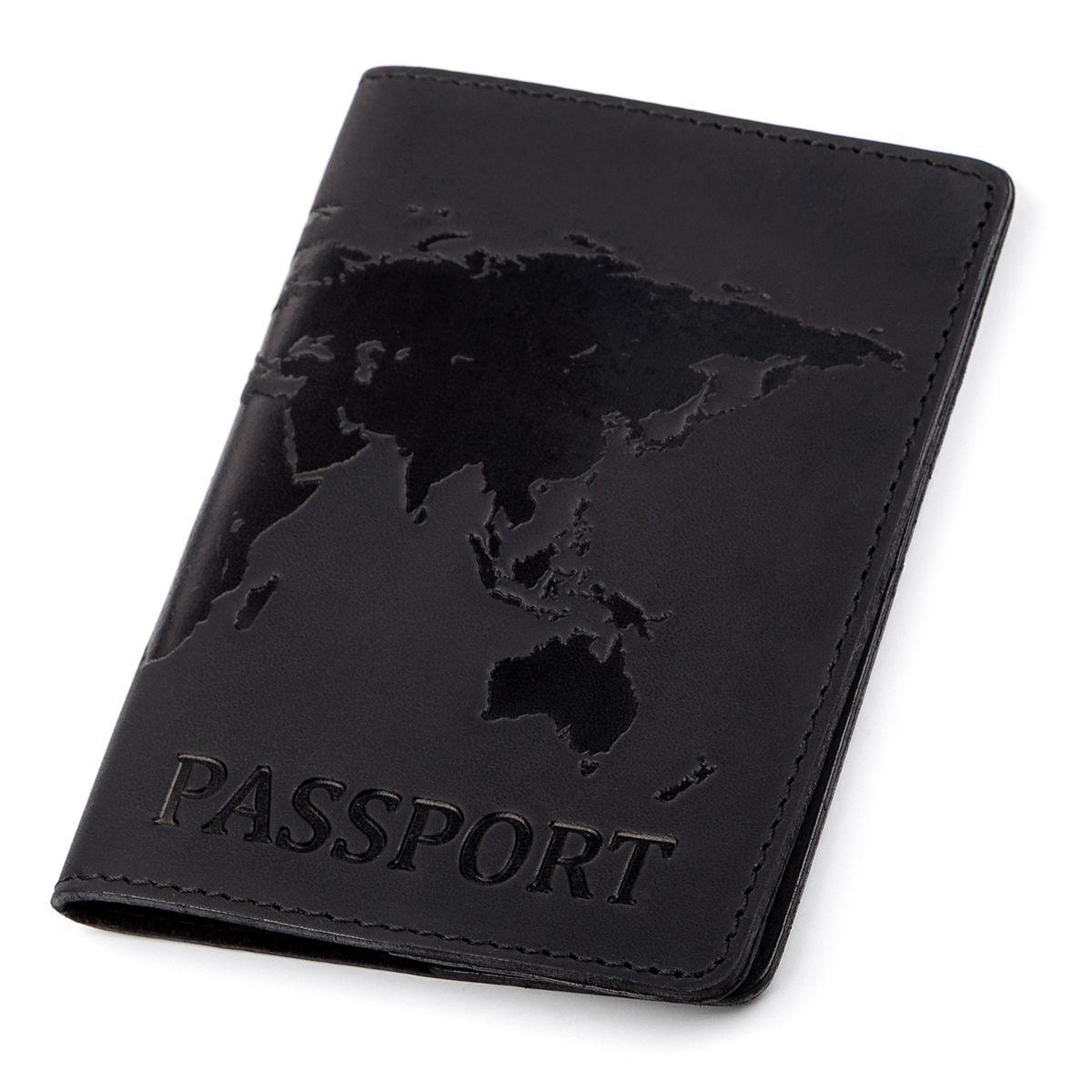 Обложка На Паспорт Shvigel 13921 Кожаная Черная, Черный