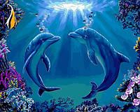 Картина по номерам Babylon  Дельфины 40 Х 50 см (VP1141)