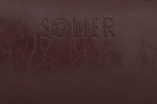 Кожаный Несессер Solier Каштановый (SK02Maroon), фото 3