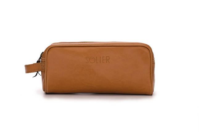 Кожаный Несессер Solier Светло-коричневый (SK02Camel), фото 2