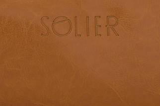 Кожаный Несессер Solier Светло-коричневый (SK02Camel), фото 3