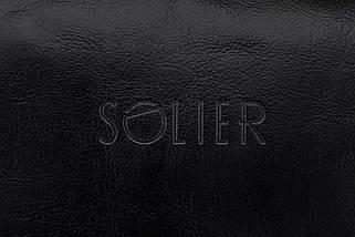 Кожаный Несессер Solier Черный (SK01Black), фото 2