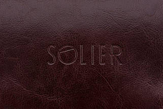 Кожаный Несессер Solier Каштановый (SK01Maroon), фото 3