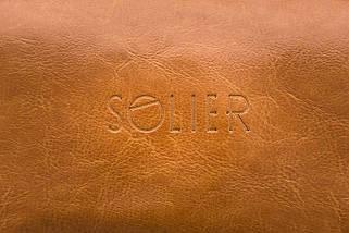 Кожаный Несессер Solier Светло-коричневая (SK01Camel), фото 3