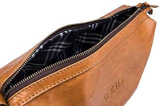 Кожаный Несессер Solier Светло-коричневая (SK01Camel), фото 2