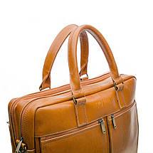 """Мужская кожаная сумка для ноутбука Solier 17"""" Коричневая (SL01Camel), фото 2"""