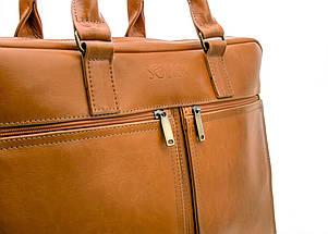 """Мужская кожаная сумка для ноутбука Solier 17"""" Коричневая (SL01Camel), фото 3"""