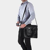 """Мужская кожаная сумка для ноутбука Solier 17"""" Черная (SL03Black), фото 2"""