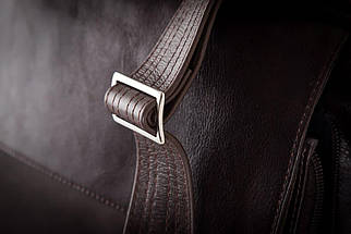 """Мужская кожаная сумка для ноутбука 15 - 15.6"""" и документов Коричневая Solier (SL30Brown), фото 3"""