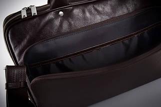 """Мужская кожаная сумка для ноутбука 15 - 15.6"""" и документов Коричневая Solier (SL30Brown), фото 2"""