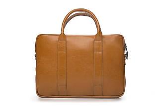 """Мужская кожаная сумка для ноутбука 15 - 15.4"""" Коричневая Solier (SL20Camel), фото 2"""