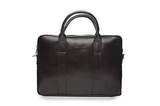 """Мужская кожаная сумка для ноутбука 15 - 15.4"""" Коричневая Solier (SL20Brown), фото 3"""