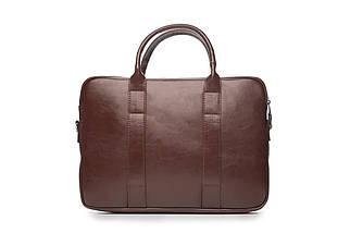 "Мужская кожаная сумка для ноутбука 15 - 15.4"" Каштановая Solier (SL20Maroon), фото 3"