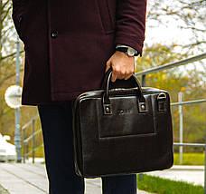 """Мужская кожаная сумка для ноутбука 15 - 15.6"""" Solier Коричневая (SL21Brown), фото 3"""
