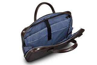 """Мужская кожаная сумка для ноутбука 15 - 15.6"""" Solier Коричневая (SL21Brown), фото 2"""