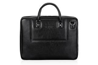 """Мужская кожаная сумка для ноутбука 15 - 15.6"""" Solier Черная (SL21Black), фото 3"""