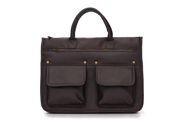 """Мужской портфель для ноутбука 15 - 15.6"""" Solier Темно-коричневый (S24DarkBrown), фото 2"""