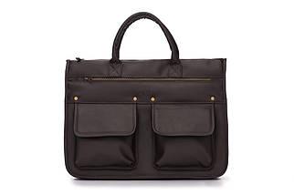 """Мужской портфель для ноутбука 15 - 15.6"""" Solier Темно-коричневый (S24DarkBrown)"""