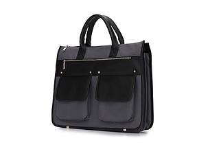 """Мужской портфель для ноутбука 15 - 15.6"""" Solier Серо-черный (S24GrayBlack), фото 3"""
