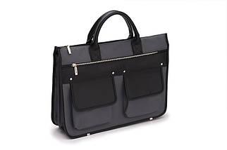 """Мужской портфель для ноутбука 15 - 15.6"""" Solier Серо-черный (S24GrayBlack), фото 2"""