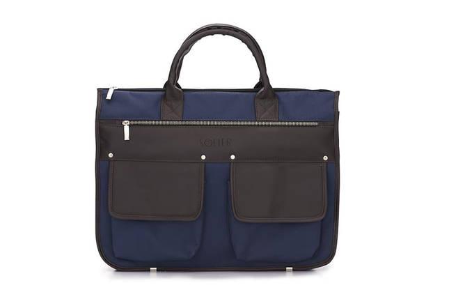 """Мужской портфель для ноутбука 15 - 15.6"""" Solier Сине-коричневый (S24BlueBrown), фото 2"""