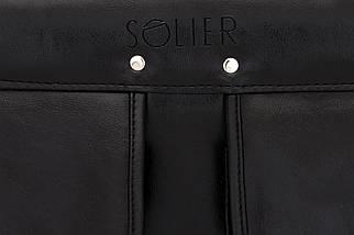 """Мужской портфель для ноутбука 15 - 15.6"""" Solier Черный (S24Black), фото 3"""