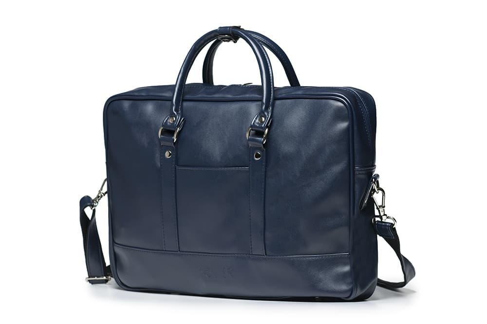 """Мужская кожаная сумка для ноутбука 15 - 15.6"""" Solier Синяя (S04Blue)"""