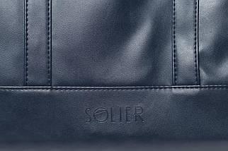 """Мужская кожаная сумка для ноутбука 15 - 15.6"""" Solier Синяя (S04Blue), фото 3"""