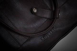 """Мужская кожаная сумка для ноутбука 15 - 15.6"""" Solier Коричневая (S04DarkBrown), фото 3"""