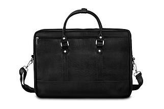 """Мужская кожаная сумка для ноутбука 15 - 15.6"""" Solier Черная (S04Black), фото 3"""