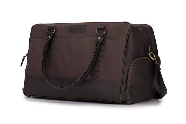 Мужская Спортивная дорожная сумка на плечо Solier Коричневая (S18LightBrown), фото 2