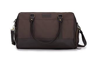 Мужская Спортивная дорожная сумка на плечо Solier Коричневая (S18LightBrown), фото 3
