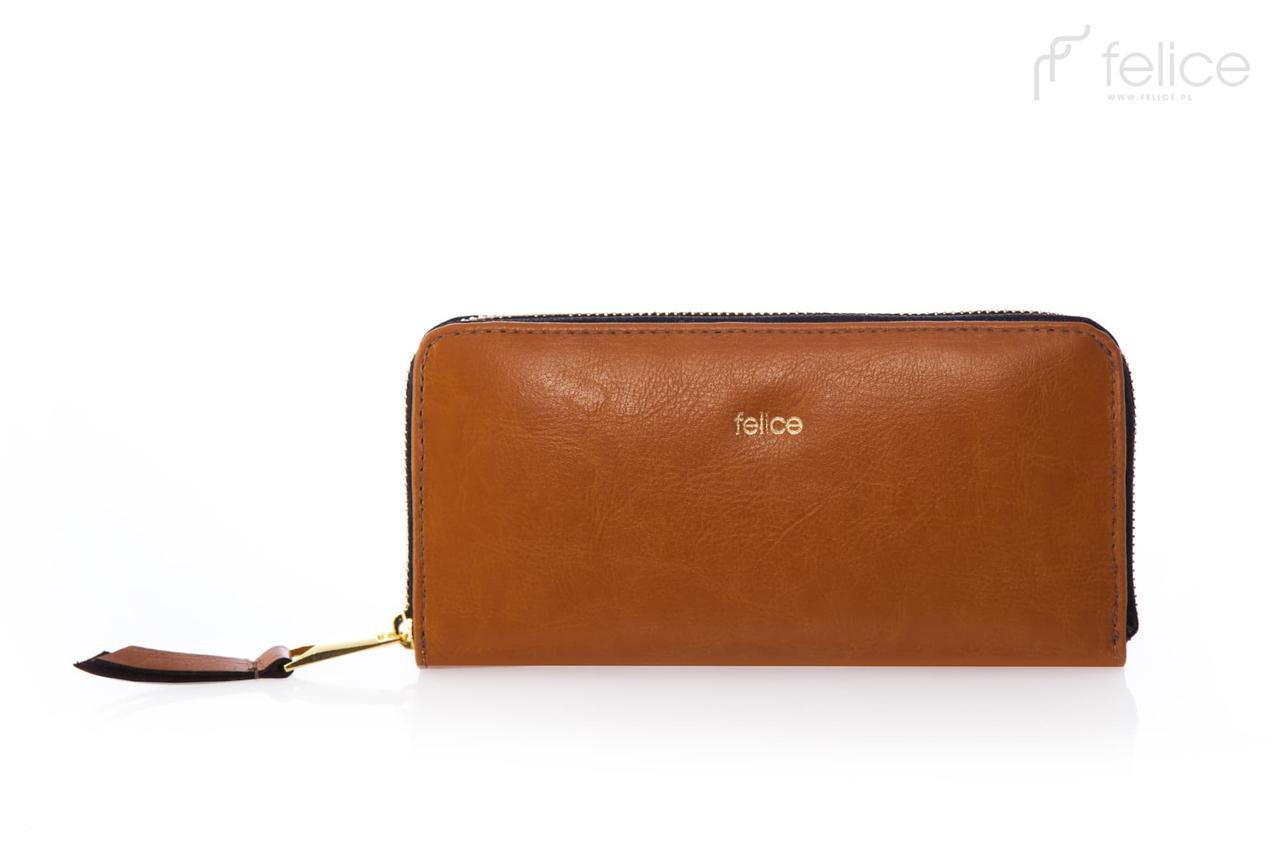 Женский кожаный кошелек Felice Коричневый (P02Camel)