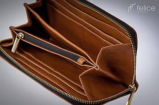 Женский кожаный кошелек Felice Коричневый (P02Camel), фото 2