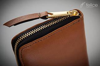 Женский кожаный кошелек Felice Коричневый (P02Camel), фото 3