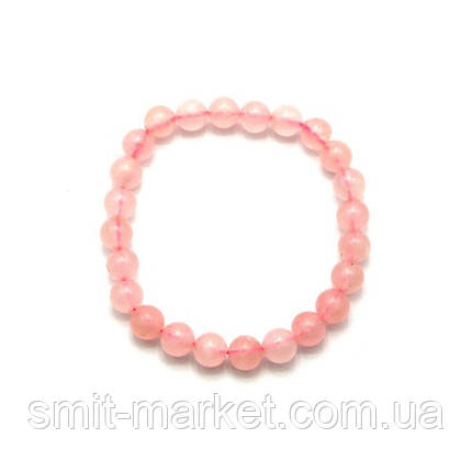Браслет из розового кварца (Ø=0,8 см), фото 2