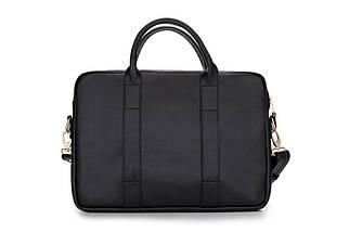 """Женская кожаная сумка для ноутбука 14 - 15.4"""" Felice Черная (DulceBlack), фото 2"""
