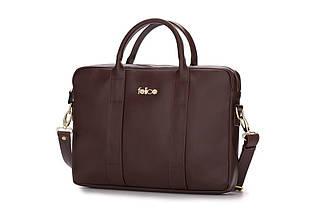 """Женская кожаная сумка для ноутбука 14 - 15.4"""" Felice Коричневая (DulceBrown), фото 3"""