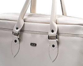 """Кожаная женская сумка для ноутбука 17"""" Felice Бежевая (MarinaBeige), фото 3"""