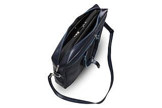 """Кожаная женская сумка для ноутбука 17"""" Felice Синяя (MarinaBlue), фото 2"""