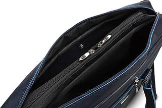 """Кожаная женская сумка для ноутбука 17"""" Felice Синяя (MarinaBlue), фото 3"""