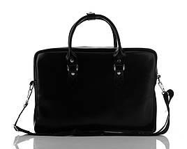 """Кожаная женская сумка для ноутбука 17"""" Felice Черная (MarinaBlack), фото 2"""