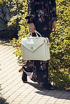 """Кожаная женская сумка для ноутбука 15 - 15.4"""" Felice Серая (Fl15Grey), фото 2"""