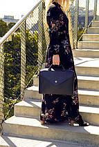 """Кожаная женская сумка для ноутбука 15 - 15.4"""" Felice черная (Fl15Black), фото 2"""