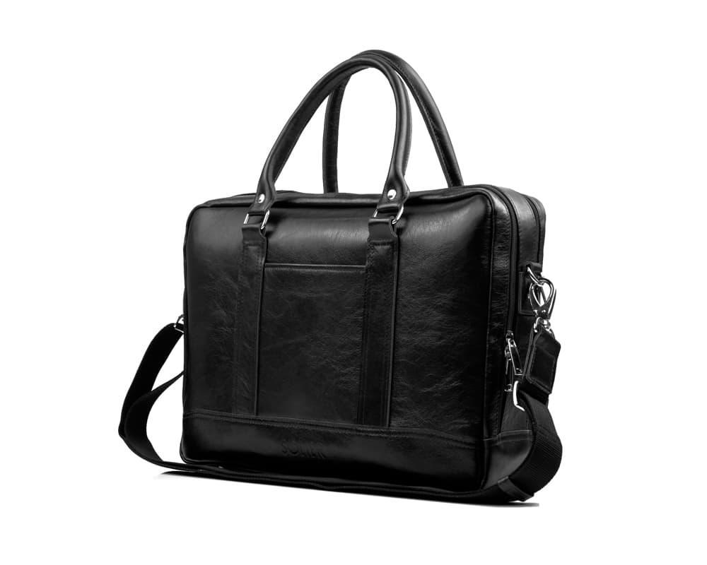 "Элегантная мужская кожаная сумка для ноутбука Solier 15 - 15,6"" Черная (SL02Black)"