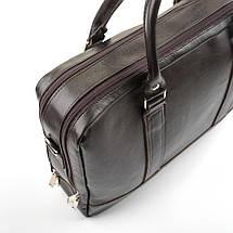 """Элегантная мужская кожаная сумка для ноутбука Solier 15 - 15,6"""" Коричневая (SL02Brown), фото 2"""