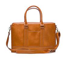 """Элегантная мужская кожаная сумка для ноутбука Solier 15 - 15,6"""" Светло-коричневая (SL02Camel), фото 2"""