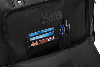 Повседневная мужская сумка Solier Черная (S19Black), фото 3