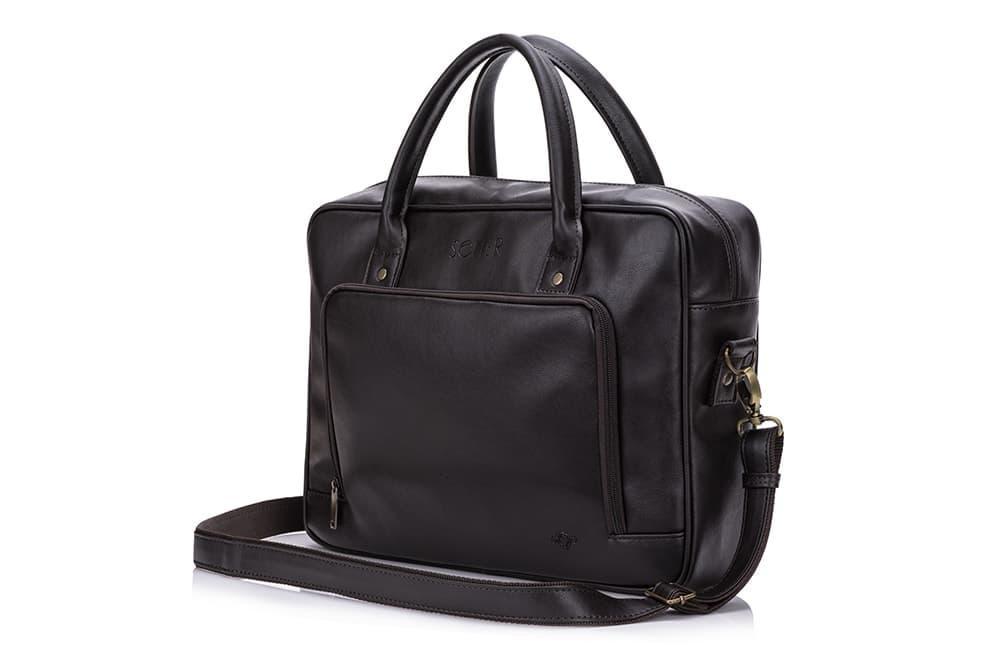 Повседневная мужская сумка Solier Коричневая (S19DarkBrown)
